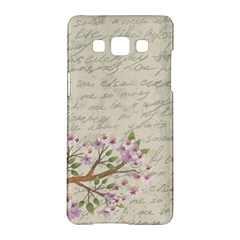 Cherry Blossom Samsung Galaxy A5 Hardshell Case  by Valentinaart