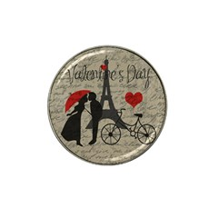 Love Letter   Paris Hat Clip Ball Marker by Valentinaart