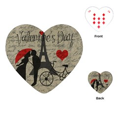 Love Letter   Paris Playing Cards (heart)  by Valentinaart