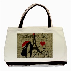 Love Letter   Paris Basic Tote Bag (two Sides) by Valentinaart