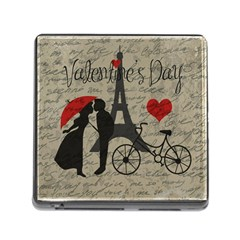 Love Letter   Paris Memory Card Reader (square) by Valentinaart