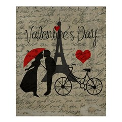 Love Letter   Paris Shower Curtain 60  X 72  (medium)  by Valentinaart