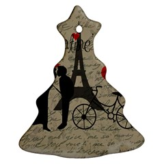 Love Letter   Paris Ornament (christmas Tree)  by Valentinaart