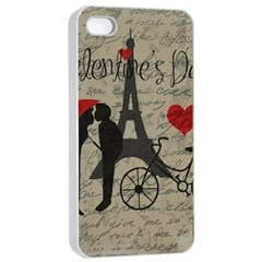 Love Letter   Paris Apple Iphone 4/4s Seamless Case (white) by Valentinaart