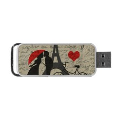 Love Letter   Paris Portable Usb Flash (one Side) by Valentinaart