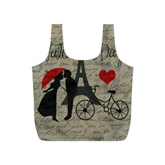 Love Letter   Paris Full Print Recycle Bags (s)  by Valentinaart