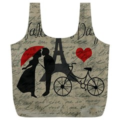 Love Letter   Paris Full Print Recycle Bags (l)  by Valentinaart