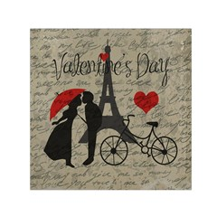 Love Letter   Paris Small Satin Scarf (square) by Valentinaart