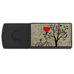 Love Letter Usb Flash Drive Rectangular (4 Gb) by Valentinaart
