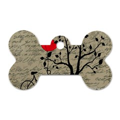 Love Letter Dog Tag Bone (two Sides) by Valentinaart