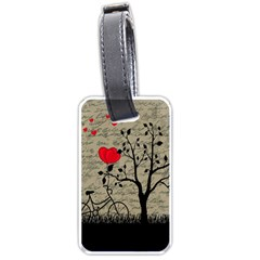 Love Letter Luggage Tags (one Side)  by Valentinaart
