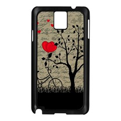 Love Letter Samsung Galaxy Note 3 N9005 Case (black) by Valentinaart