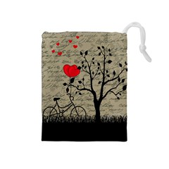 Love Letter Drawstring Pouches (medium)  by Valentinaart