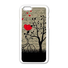 Love Letter Apple Iphone 6/6s White Enamel Case by Valentinaart