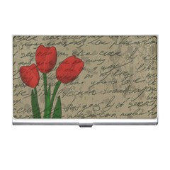 Vintage Tulips Business Card Holders by Valentinaart