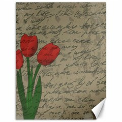 Vintage Tulips Canvas 12  X 16   by Valentinaart