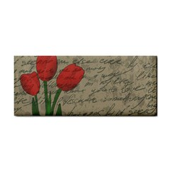 Vintage Tulips Cosmetic Storage Cases by Valentinaart
