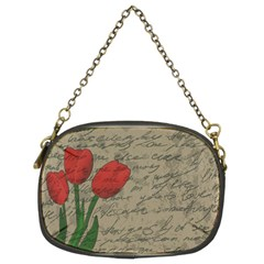 Vintage Tulips Chain Purses (two Sides)  by Valentinaart