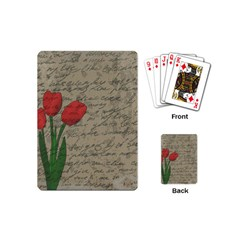 Vintage Tulips Playing Cards (mini)  by Valentinaart