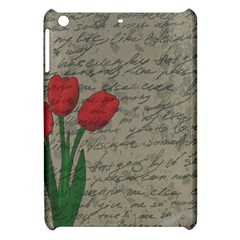 Vintage Tulips Apple Ipad Mini Hardshell Case by Valentinaart