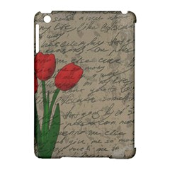 Vintage Tulips Apple Ipad Mini Hardshell Case (compatible With Smart Cover) by Valentinaart