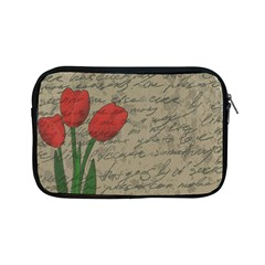 Vintage Tulips Apple Ipad Mini Zipper Cases by Valentinaart