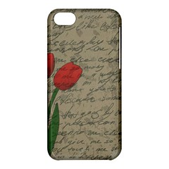 Vintage Tulips Apple Iphone 5c Hardshell Case by Valentinaart