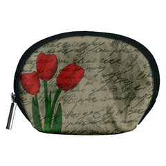 Vintage Tulips Accessory Pouches (medium)  by Valentinaart