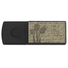 Vintage Tulips Usb Flash Drive Rectangular (4 Gb) by Valentinaart