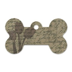 Vintage Tulips Dog Tag Bone (one Side) by Valentinaart