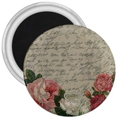 Vintage Roses 3  Magnets by Valentinaart