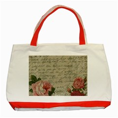 Vintage Roses Classic Tote Bag (red) by Valentinaart