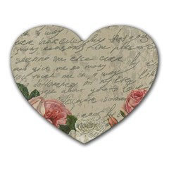 Vintage Roses Heart Mousepads by Valentinaart
