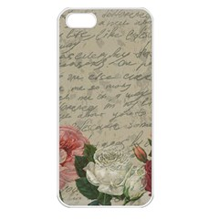 Vintage Roses Apple Iphone 5 Seamless Case (white) by Valentinaart