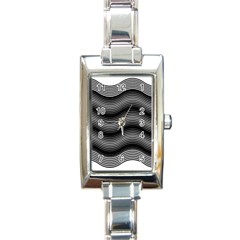 Two Layers Consisting Of Curves With Identical Inclination Patterns Rectangle Italian Charm Watch by Simbadda