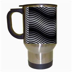 Two Layers Consisting Of Curves With Identical Inclination Patterns Travel Mugs (white) by Simbadda