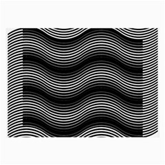Two Layers Consisting Of Curves With Identical Inclination Patterns Large Glasses Cloth (2 Side) by Simbadda