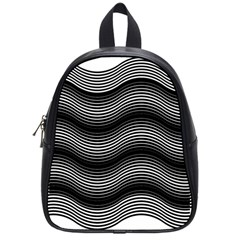 Two Layers Consisting Of Curves With Identical Inclination Patterns School Bags (small)  by Simbadda