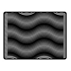 Two Layers Consisting Of Curves With Identical Inclination Patterns Fleece Blanket (small) by Simbadda