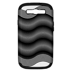 Two Layers Consisting Of Curves With Identical Inclination Patterns Samsung Galaxy S Iii Hardshell Case (pc+silicone) by Simbadda