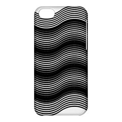 Two Layers Consisting Of Curves With Identical Inclination Patterns Apple Iphone 5c Hardshell Case by Simbadda