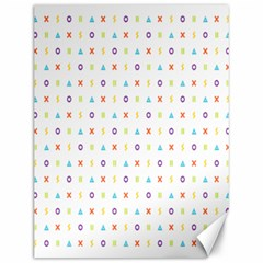 Sign Pattern Canvas 12  X 16   by Simbadda