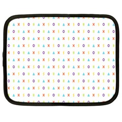 Sign Pattern Netbook Case (large) by Simbadda
