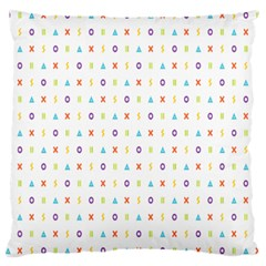 Sign Pattern Large Cushion Case (two Sides)