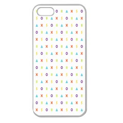 Sign Pattern Apple Seamless Iphone 5 Case (clear)