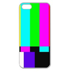 Color Bars & Tones Apple Seamless Iphone 5 Case (clear) by Simbadda