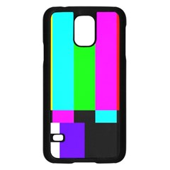 Color Bars & Tones Samsung Galaxy S5 Case (black)