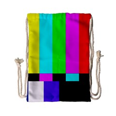Color Bars & Tones Drawstring Bag (small)