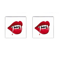 Mouth Jaw Teeth Vampire Blood Cufflinks (square) by Simbadda