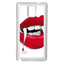 Mouth Jaw Teeth Vampire Blood Samsung Galaxy Note 4 Case (white)